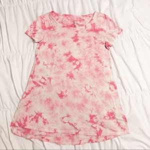 Pink and white Tie-dyed T-shirt Girl's size 8